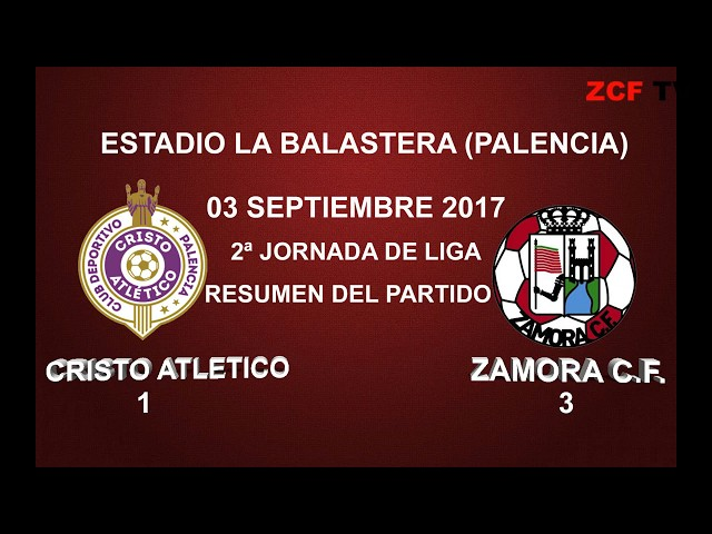 PALENCIA CRISTO AT  1 - 3 ZAMORA C F: RESUMEN DEL PARTIDO