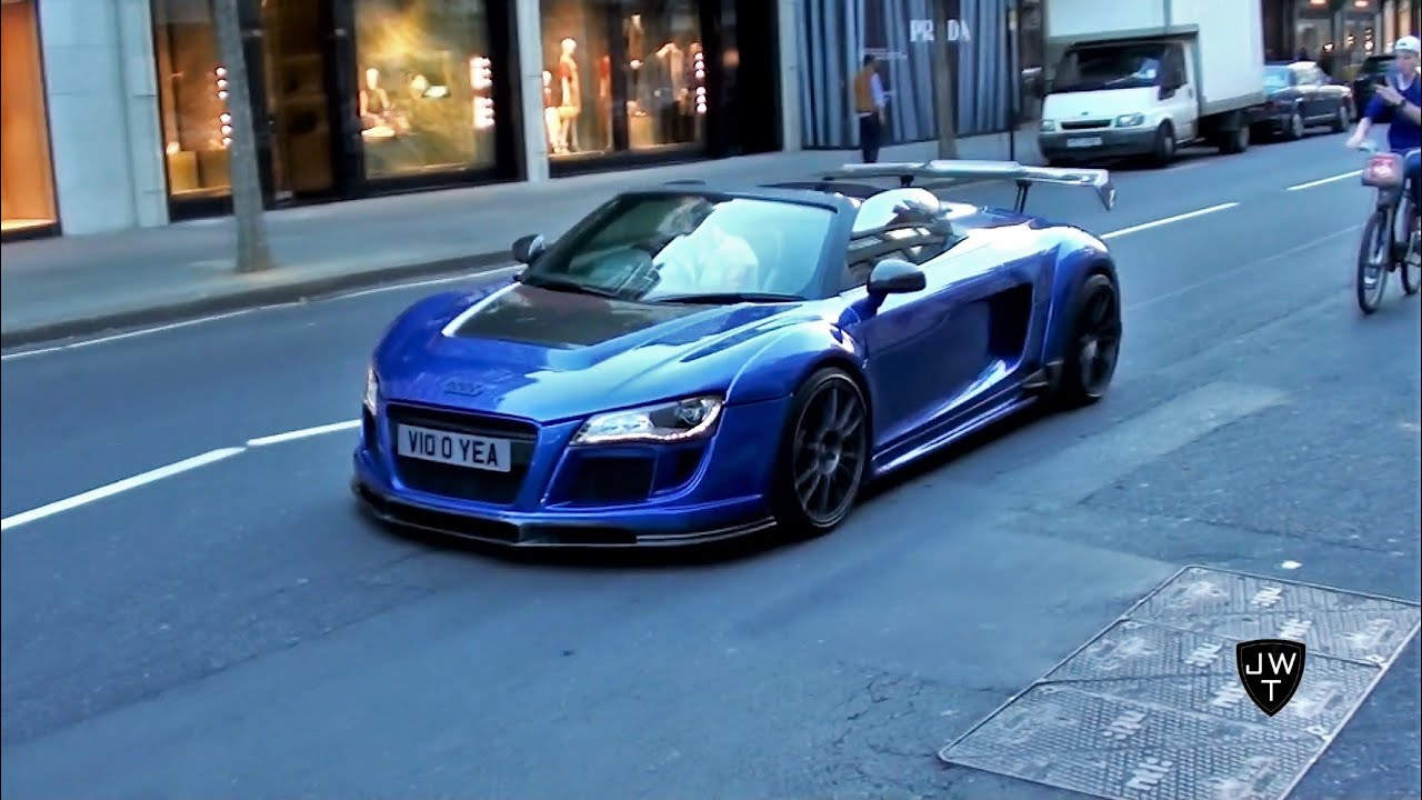 Supercars in London (Part 23) - MODIFIED R8 V10 GT, Brabus G63 AMG & More! - YouTube