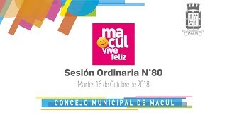 Concejo Municipal de Macul N° 80 / 16-10-2018