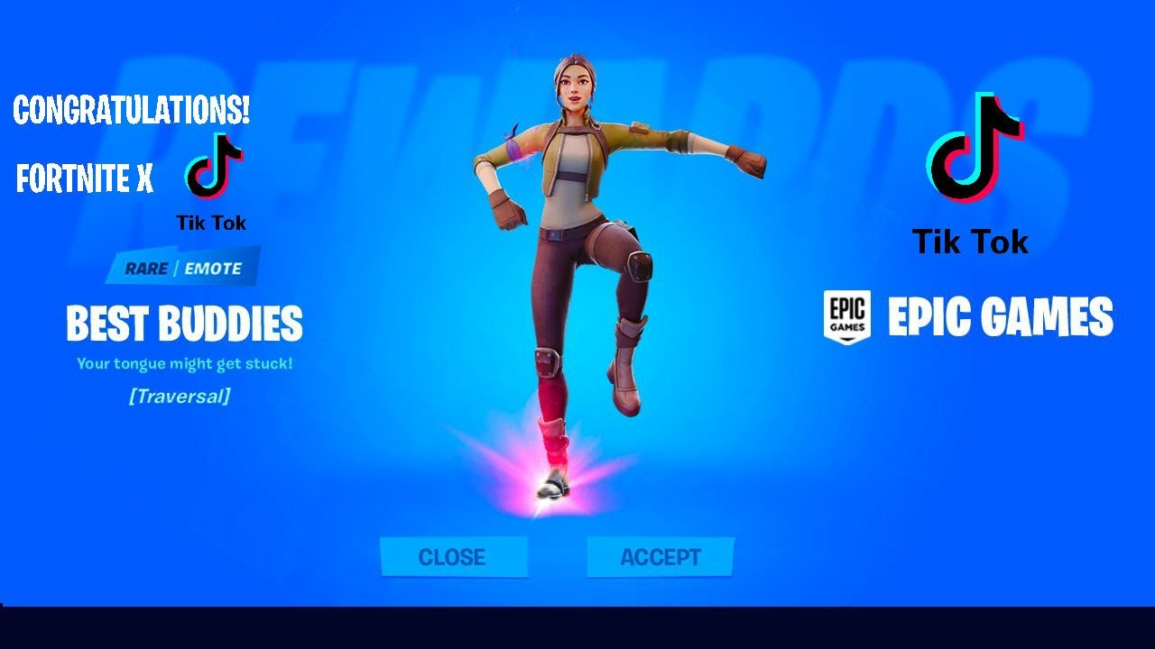 How To Get Free Tik Tok Emote In Fortnite Battle Royale Emote Royale Contest Youtube