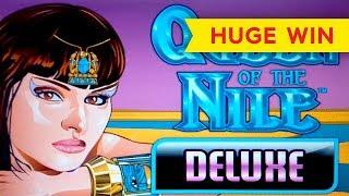 HUGE WIN! Queen of the Nile Deluxe Slot - MAX BET BONUS!