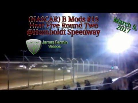 B Mod #15, Round 2 Heat 5, Thursday Night, Humboldt Speedway, 2017