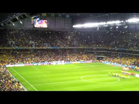 ECUADOR VS HONDURAS WORLD CUP 2014 HIMNO NACIONAL DE ECUADOR