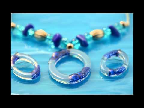 Bijoux fantaisie en verre - Bijoux de créateurs - Amarre de bijoux