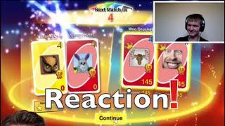 Uno Funny Moments - Battling Team Top Deck! Reaction