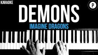 Imagine Dragons - Demons Karaoke SLOWER Acoustic Piano Instrumental Cover Lyrics