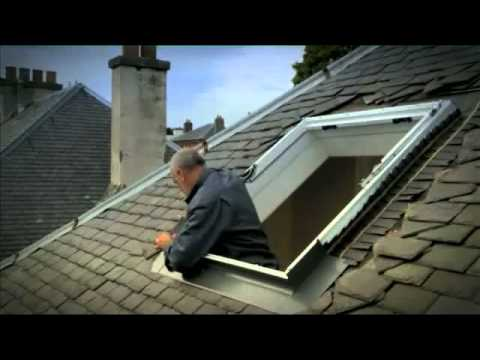 How To Replace An Old VELUX Roof Window In A Slate Roof