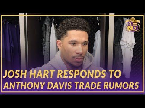 Lakers Post Game: Josh Hart Responds to Anthony Davis Trade Rumors Surrounding The Team