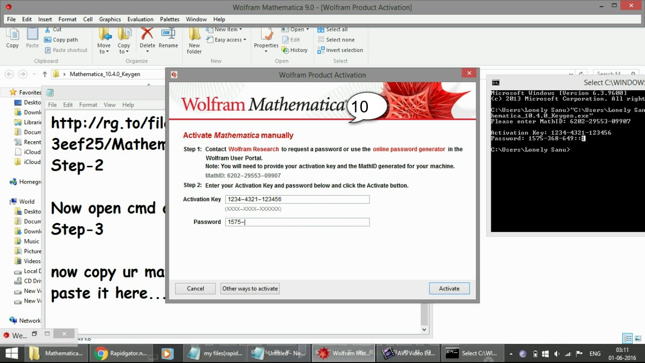 9 again keygen for mathematica