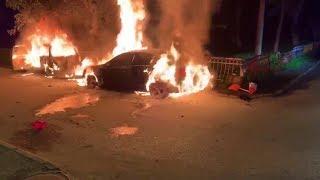 Д. Чукреев лютует в ответ на поджог его машины.