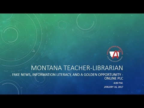 Montana Teacher-Librarian Online PLC - January 2017