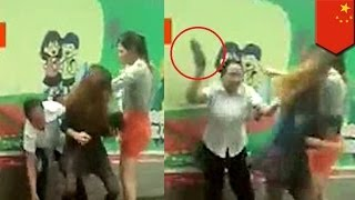 Catfight! Wife attacks husband
