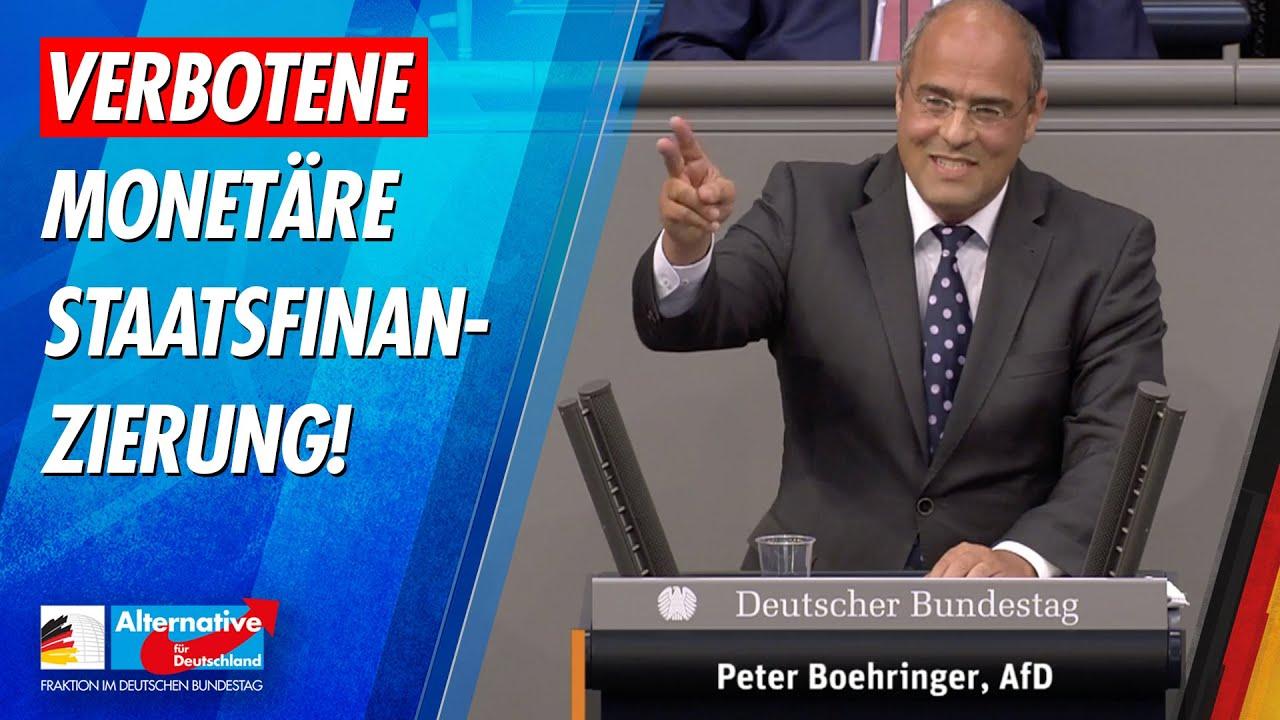 Verbotene monetäre Staatsfinanzierung! - Peter Boehringer - AfD-Fraktion im Bundestag