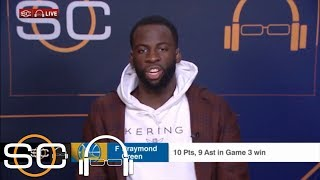 Draymond Green after Game 3: Sweep doesn't matter, just winning | SC with SVP | ESPN