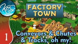 Factory Town Ep 1: FACTORIO VILLAGE - (Extremely Alpha!) - Let