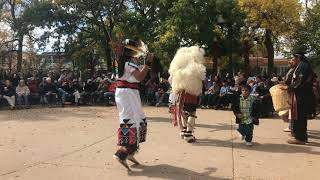 Indigenous Peoples Day Celebration 2017 - Laguna and Hopi Buffalo Dancers Clip 1