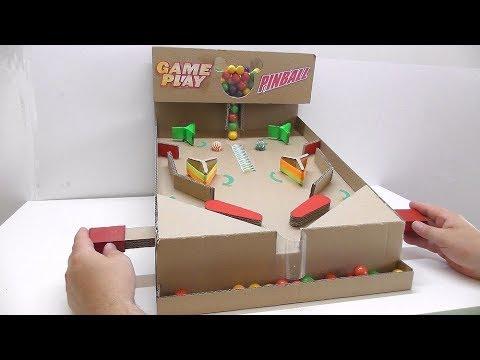 Пинбол из картона Как сделать пинбол из картона