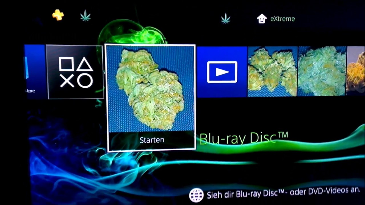 PS4 Custom Theme – Weed Design by e✘treme