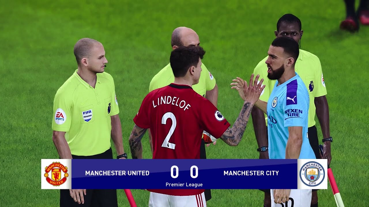 Manchester United vs Manchester City – Premier League 2020 Gameplay