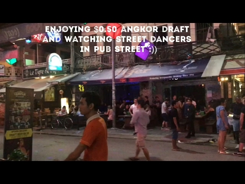 Cambodia travel info Phnom Penh Hotels, flight to Siem Reap, nightlife,drunken trip Street Dancing