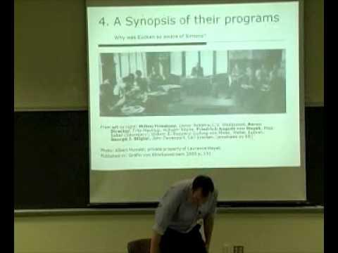 Ekkehard Kohler on Eucken, Henry Simons and the Economic Order