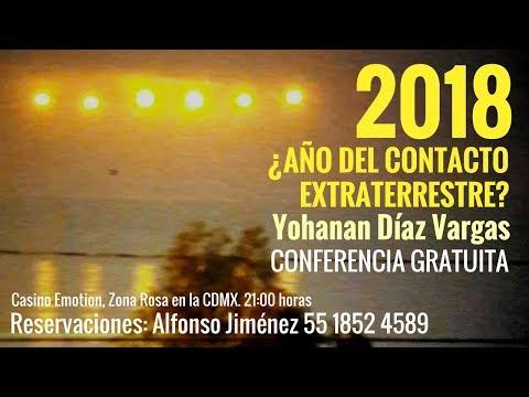 2018 ¿Año del Contacto Extraterrestre? I Casino Emotion Zona Rosa I 13 de enero, 21:00 horas.
