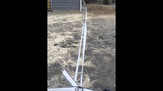 Installing hot tape fence (electric fence)