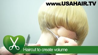 Haircut to create volume. parikmaxer TV USA | parikmaxer TV USA