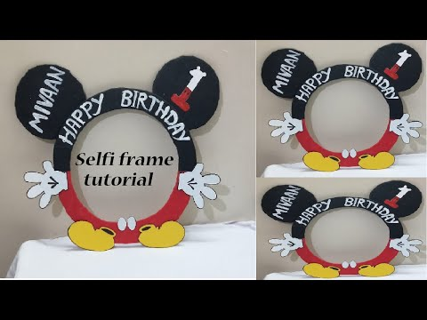 Mickey Mouse Photo Booth Frame|DIY Minnie Mouse Photo Frame Prop, |Kids Party Decor Ideas-JM Craft