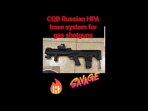 CQB Russian HPA hose system for gas shotguns Airsoft (how to do it)