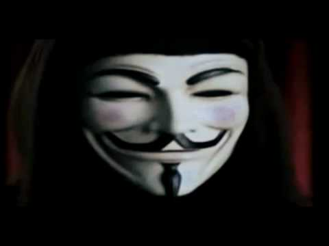 "Anonymous - The greatest speech ever  ""In the name of democracy, let us all unite!"""