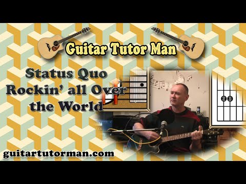 Rockin' All Over The World - Status Quo - Acoustic Guitar Lesson (easy Beginners Version)