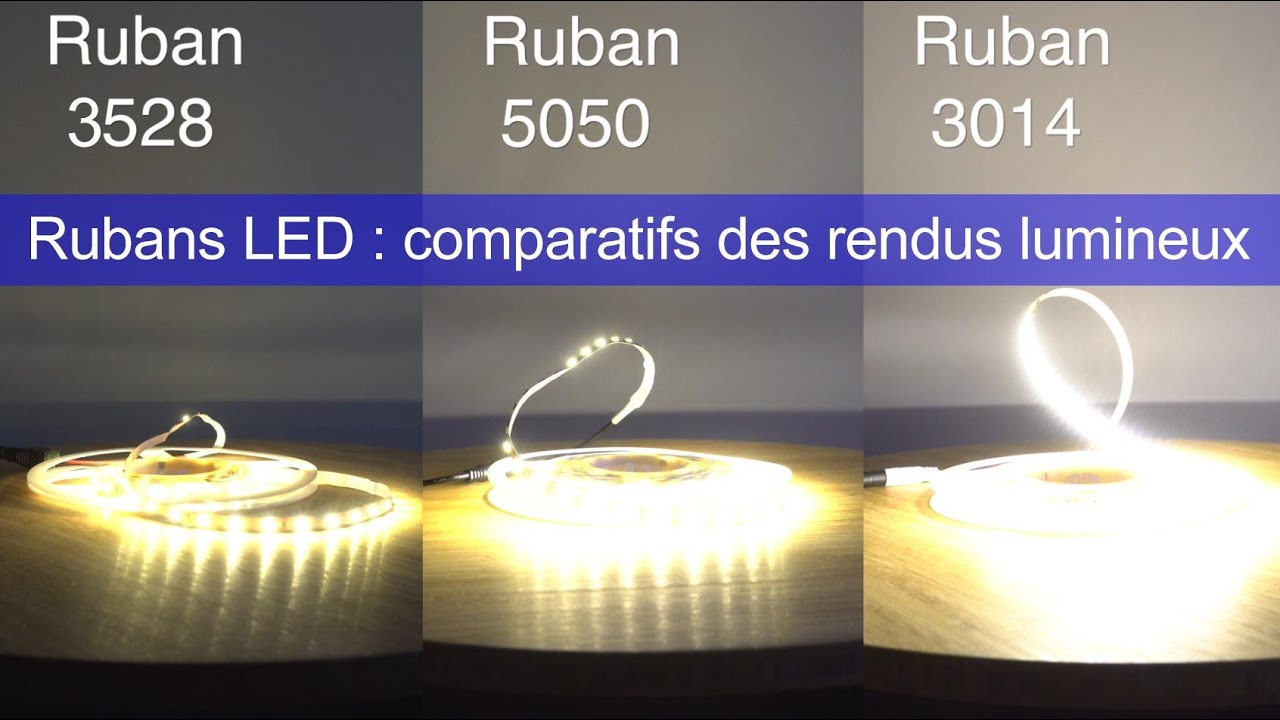Ruban LED Comparaison 5050 Haute Luminosit Vs 3014