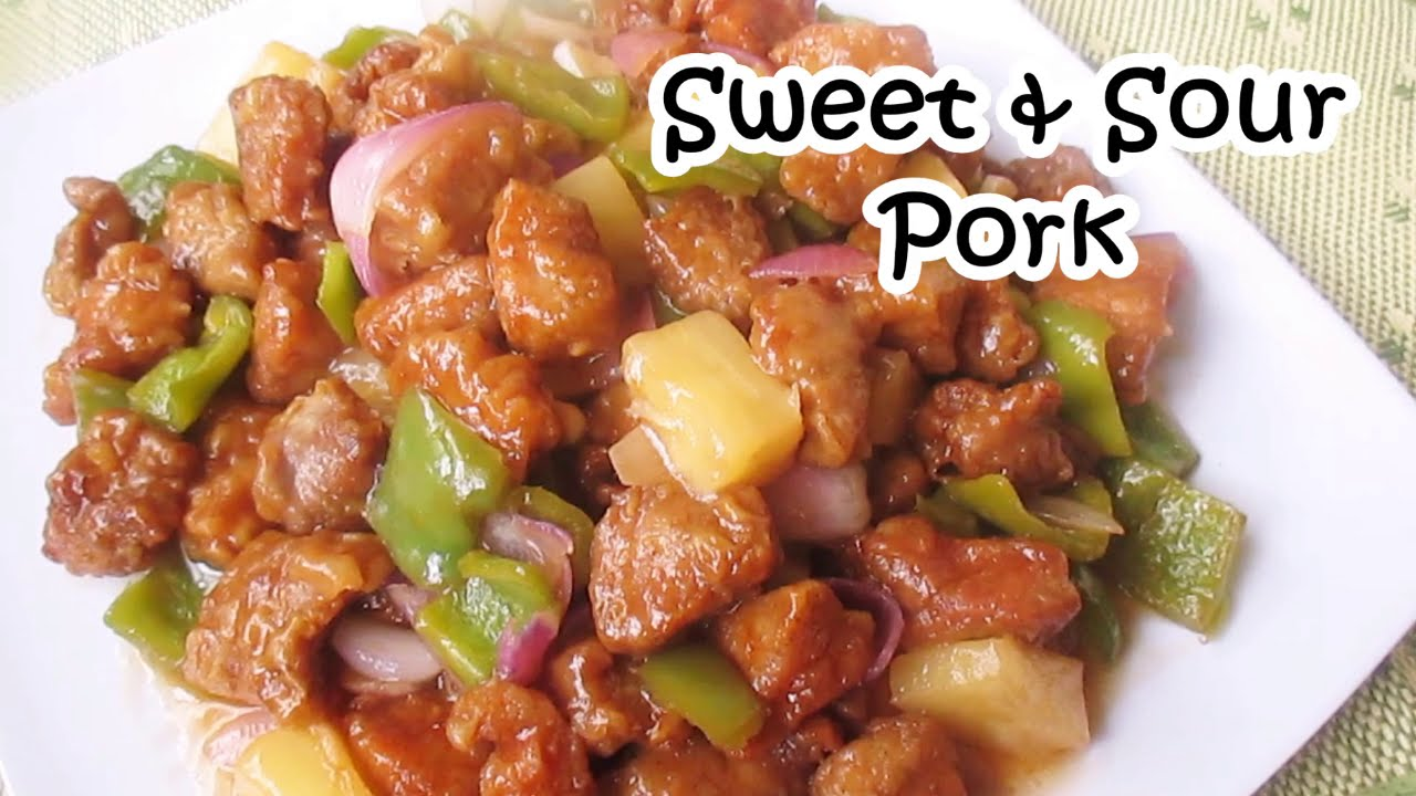 Sweet And Sour Pork Recipe - YouTube
