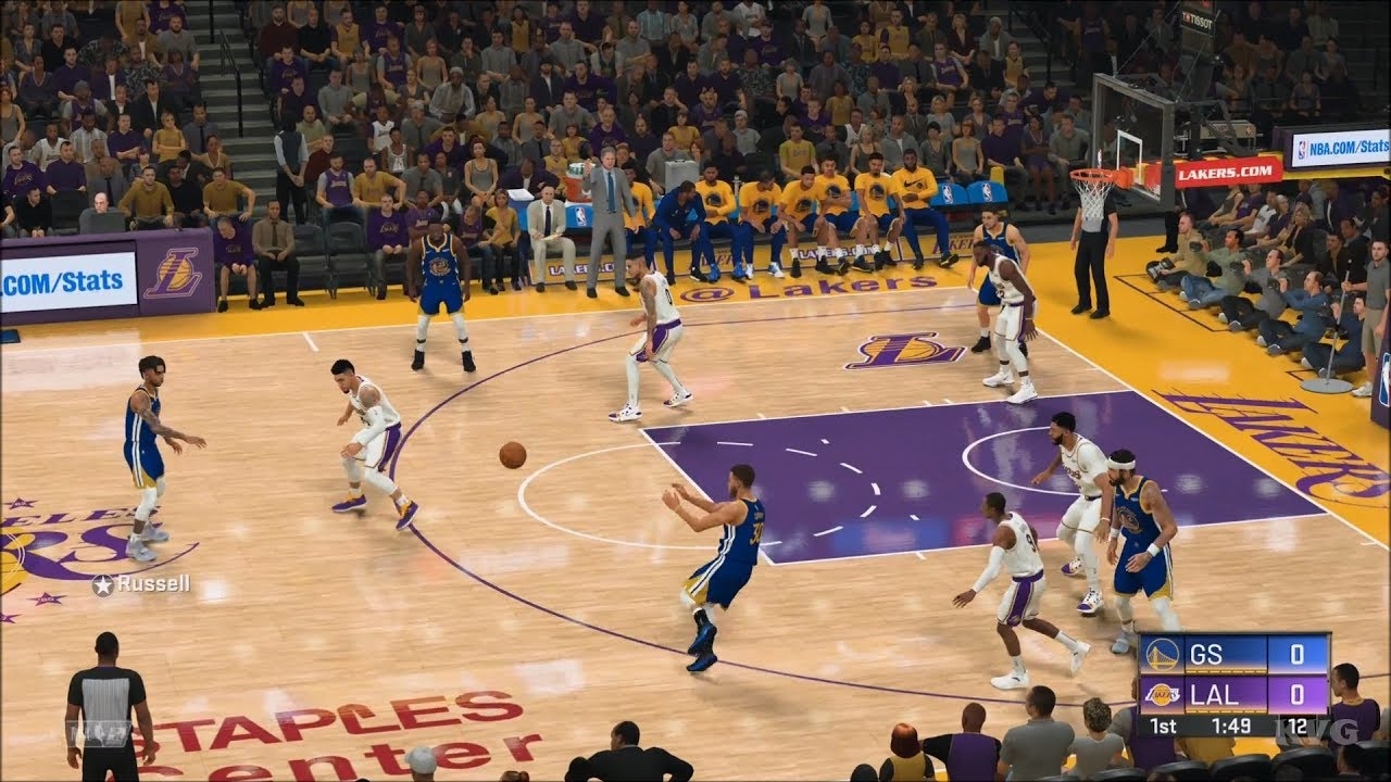 Nba 2k20 Los Angeles Lakers Vs Golden State Warriors Gameplay Ps4 Hd 1080p60fps Youtube