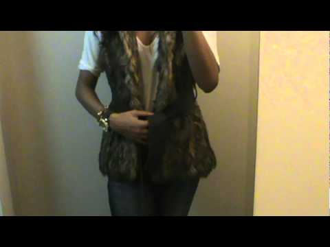 OOTD Faux Fur Vest and Jeans