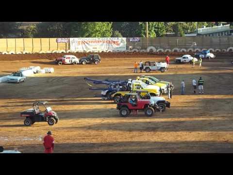Hardtops Placerville Speedway 8/6/16 Heat Race