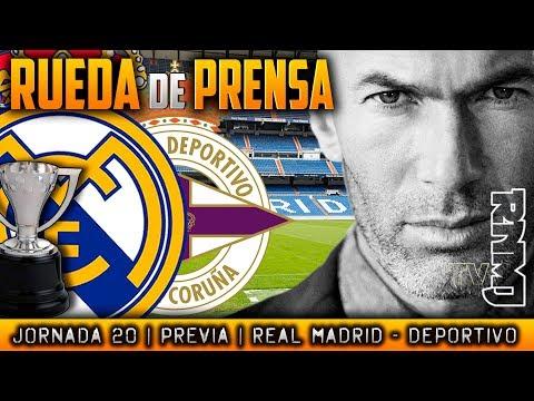Rueda de prensa de Zidane previa Real Madrid - Deportivo