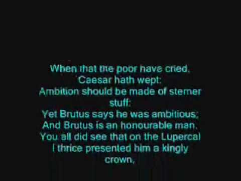 Julius Caesar Brutus And Antony Quotes YouTube Classy Julius Caesar Quotes