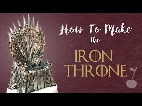 Game Of Thrones - Iron Throne Cake Topper Tutorial | How To | Cherry Toppers