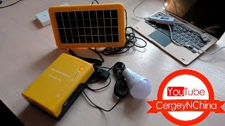 Мини солнечная электростанция для дачи и дома.(Мини солнечная электростанция больше подойдёт для дачи чем для дома, солнечная панель не очень мощная...., 2016-05-11T19:00:03.000Z)
