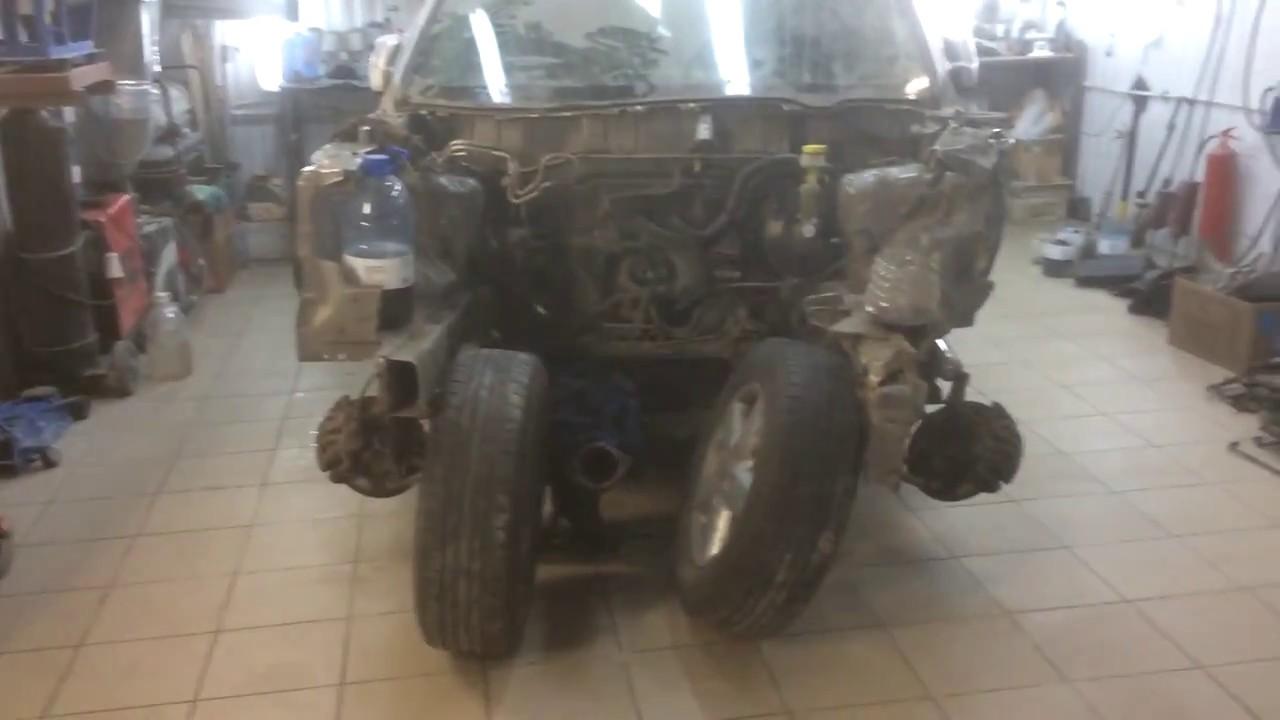 Кузовной ремонт замена Лонжерона,Cнятие Двигателя, ремонт Ниссан Nissan