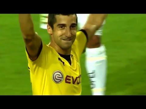 Borussia Dortmund Vs Wolfsberger AC 5:0 - Henrikh Mkhitaryan Hat-trick