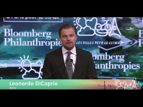 Leonardo DiCaprio Speaks to the Climate Summit for Local Leaders