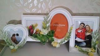 Декор рамки цветами