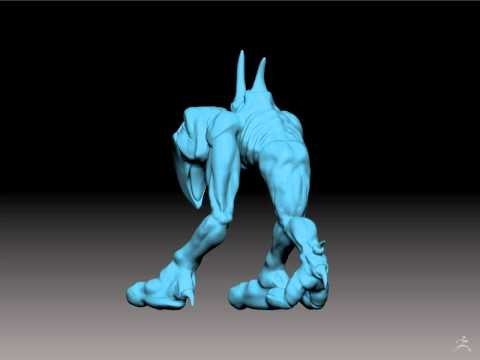 Three Walker Created In Zbrush By Instructor Gil Marquez