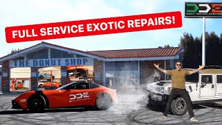 OPENING OUR OWN SUPERCAR GARAGE!? *DDE DONUT SHOP*