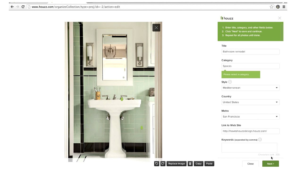 Houzz for Pros: Uploading Photos - YouTube on pottery bathroom sinks, bathroom dresser sinks, tiny wall hung bathroom sinks, craigslist bathroom sinks, kohler undermount bathroom sinks, mediterranean bathroom sinks, bathroom design with two sinks, custom bathroom sinks, bathroom faucet with copper sinks, lowe's bathroom sinks, european bathroom vanities sinks, bathroom waterfall faucets for sinks, art bathroom sinks, modern italian bathroom sinks, cheap modern wall mount sinks, top of counter bathroom sinks, american standard trough bathroom sinks, home bathroom sinks, lighting bathroom sinks, reclaimed wood bathroom vanities and sinks,