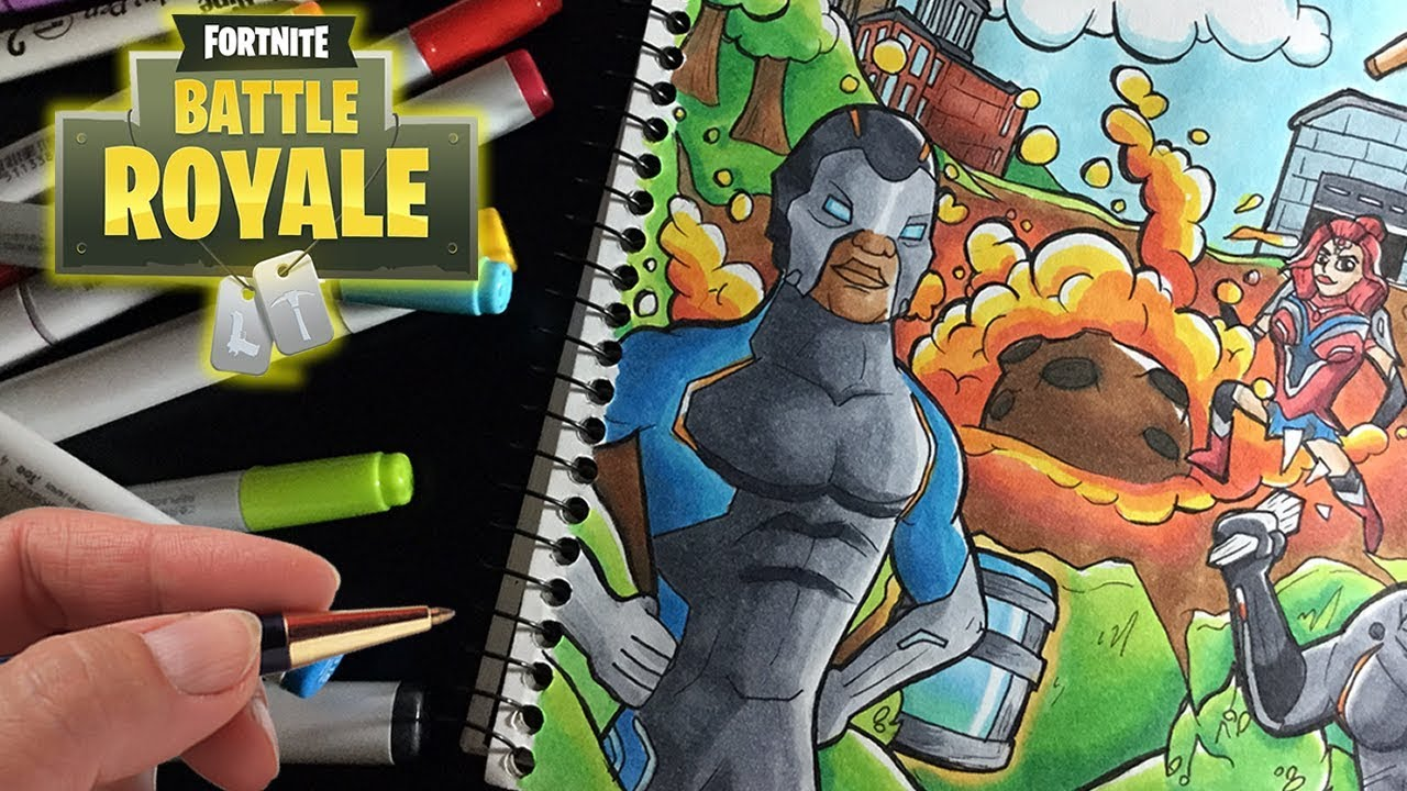 Fortnite Season 4 Drawing Meteor Copic Marker