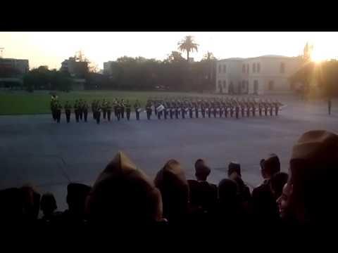Encajonamiento escuela de oficiales de carabineros
